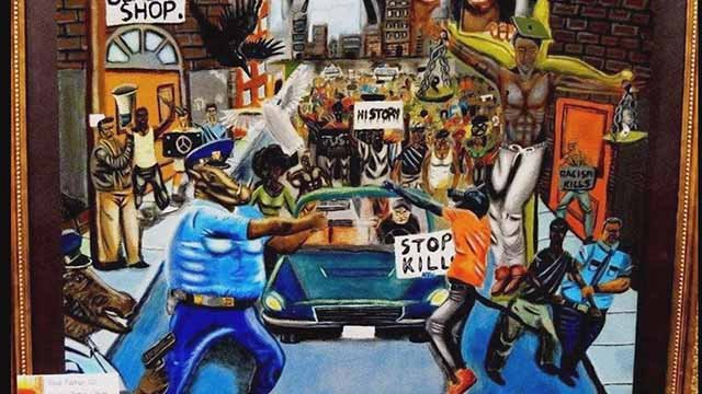 A lawmaker took down this painting on display in the Capitol in Washington. Credit: KMOV
