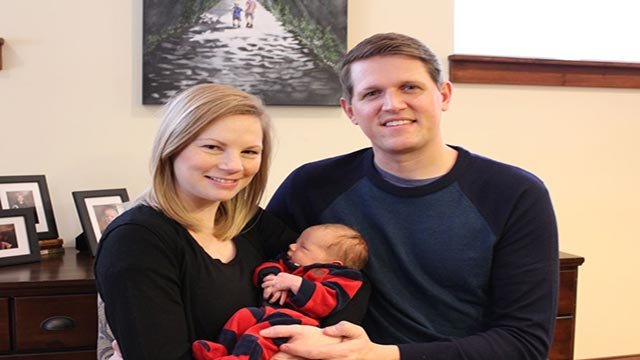 Missouri State Auditor Nicole Galloway and her husband, Jon, and their son (Credit: Nicole Galloway)