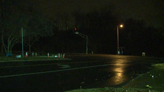 The scene of the crash on Chambers and Bellefontaine Road Tuesday (Credit: KMOV)