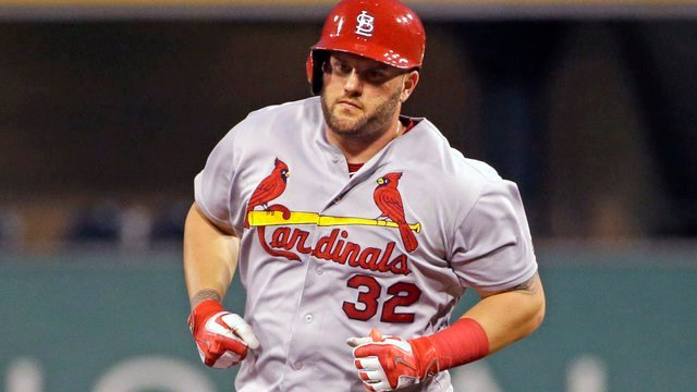 St. Louis Cardinals' Matt Adams rounds second after hitting a solo home run off Pittsburgh Pirates starting pitcher Ryan Vogelsong during the third inning of a baseball game in Pittsburgh, Tuesday, Sept. 6, 2016. (AP Photo/Gene J. Puskar)