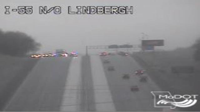 Emergency crews closed the interstate around 8:15 a.m. (Credit: MoDOT)