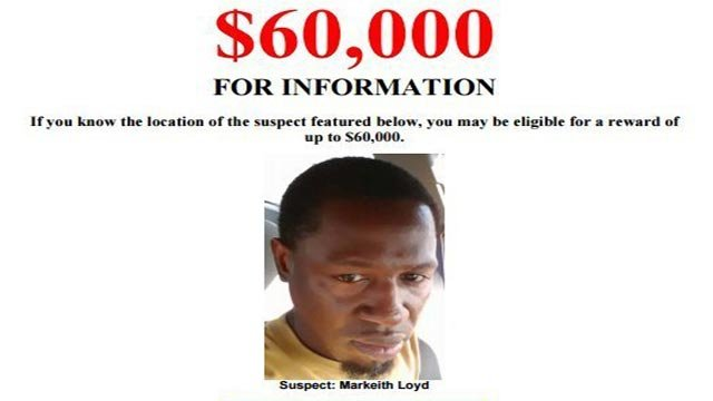 A $60,000 reward is being offered for information for Markeith Loyd, the suspected shooter in the death of the Orlando Police Department officer Master Sargent Debra Clayton on Monday, January 9, 2017, according to a tweet from the Orlando Police Dept.