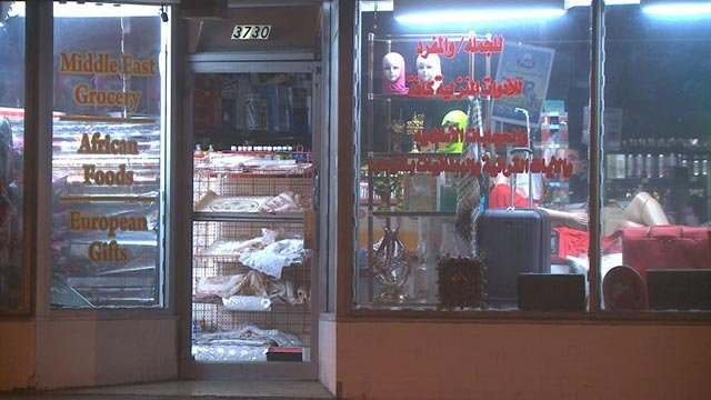 The Bagdad Market on South Grand following a break-in (Credit: KMOV)