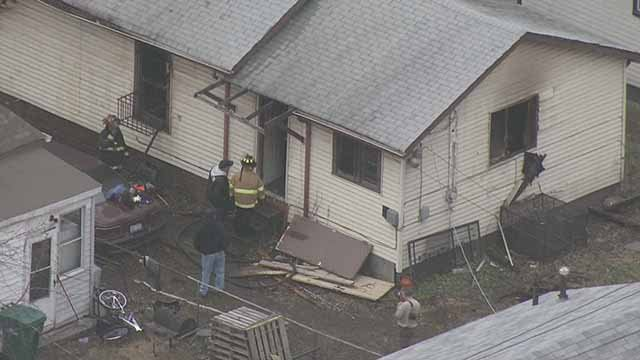 One person died in a fire near the intersection of Market at 22nd in East St. Louis Tuesday. Credit: KMOV