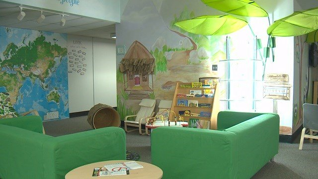 Parkway South students helped create playthings to ensure a fun environment for early childhood students. (Credit: KMOV)