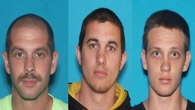 Jess Stoneking, David Willyard and Jacob Willard (Credit: Chesterfield Police Department)