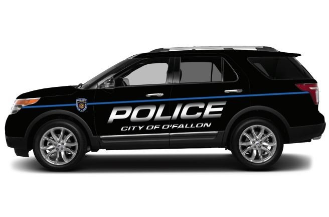 The new design for the O'Fallon Police patrol cars. (Credit: O'Fallon Police)
