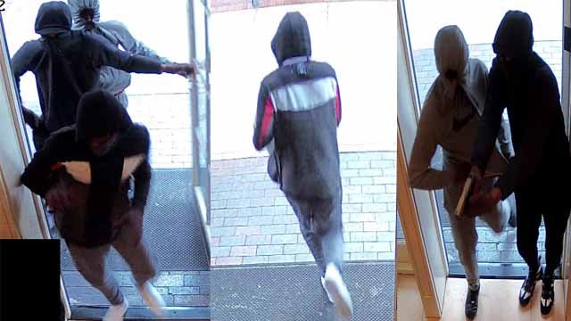 Police searching for three suspects that robbed jewelry store in Clayton on Monday. (Credit: Clayton Police Department)