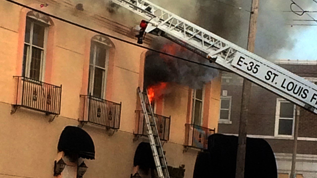 Giovanni's on the Hill caught fire on Wednesday. (Credit: News 4 viewer)
