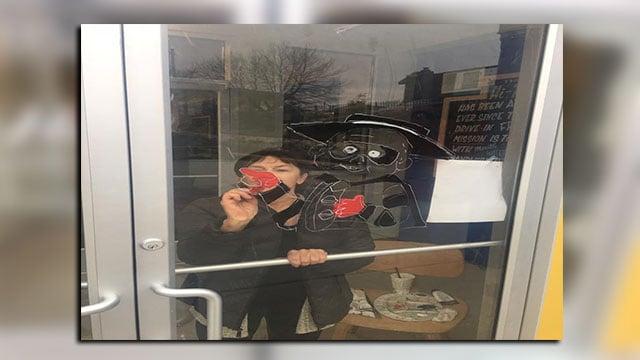 Hi-Pointe Drive-In Restaurant damaged overnight.(Credit: Hi-Pointe Restaurant)