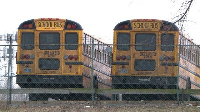 A video of a fight on a St. Louis school bus raises questions about the school's response time. (Credit: KMOV)