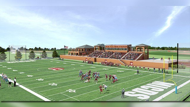 A rendering of the new football and soccer stadium at MICDS. (Credit: KMOV).