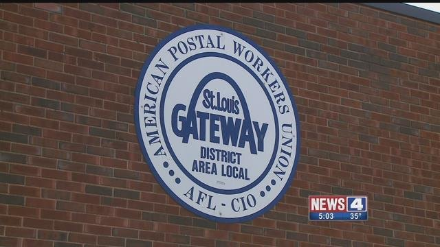 The St. Louis area chapter of the Postal Workers union. Credit: KMOV