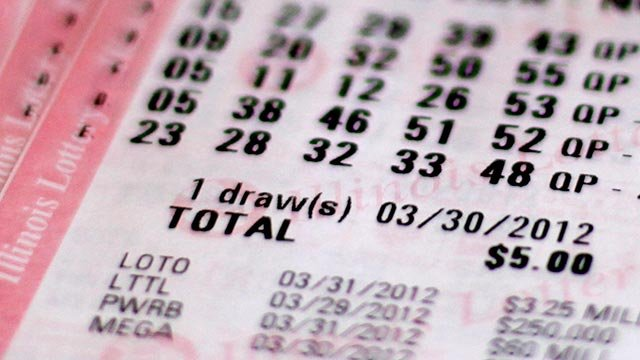 Illinois lottery ticket (Credit: AP Photo / Charles Rex Arbogast)