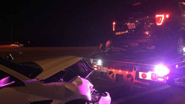 Officers from MHP and St. Charles Co. PD were injured at the end of chase on I-70 in St. Peters Monday night. Credit: KMOV