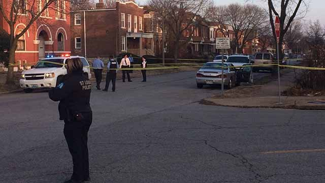 A woman in her 30s was wounded in a shooting in the 4100 block of Labadie Tuesday afternoon. Credit: KMOV