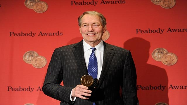 Talk show host Charlie Rose poses with his award at the 73rd Annual George Foster Peabody Awards at the Waldorf-Astoria Hotel on Monday, May 19, 2014, in New York. (Photo by Evan Agostini/Invision/AP)