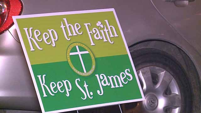 St. James the Greater School will remain open, for now. Credit: KMOV