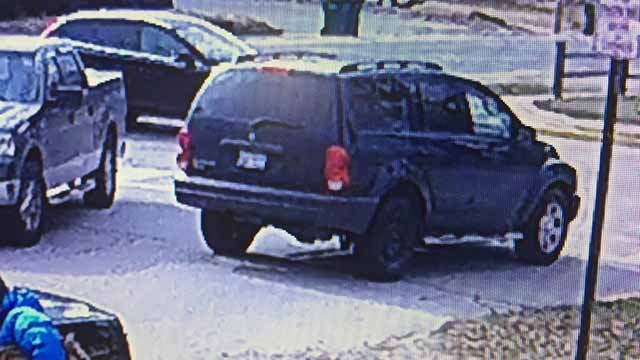 Police believe the suspect may be driving a Dodge Durango such as this one or a similar looking SUV. Credit: O'Fallon, Illinois PD.
