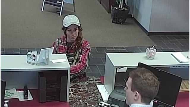 Police say this woman robbed a US Bank branch in Glen Carbon Thursday afternoon. Credit: KMOV
