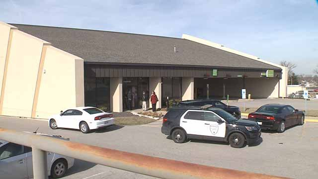 Two suspects who allegedly robbed a Regions bank in Collinsville Friday were arrested after they crashed near the Eads Bridge. Credit: KMOV