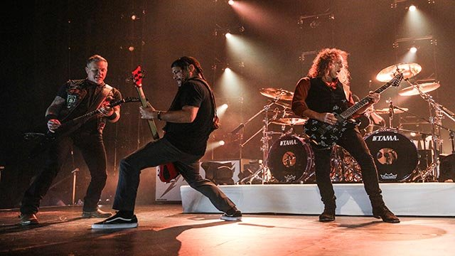 Metallica performs at The Fonda on Thursday, Dec. 15, 2016, in Los Angeles. (Photo by Rich Fury/Invision/AP)