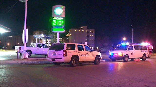 A man was fatally shot near a gas station near WB I-70 near Shreve in north St. Louis Friday night. Credit: KMOV