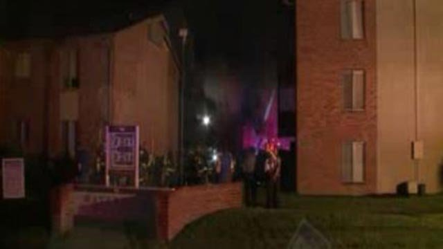 Firefighters at the Waterford Square Apartments (Credit: KMOV)