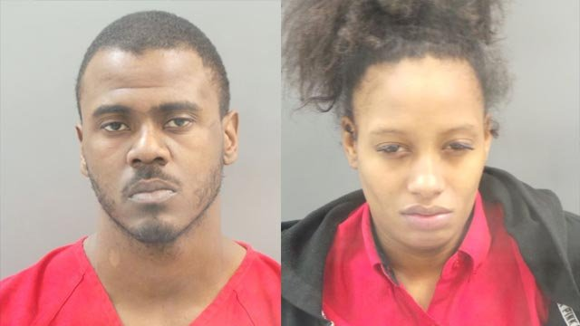 Jeramee Ramey and Ebony Jones are facing multiple charges after Jones' 6-year-old daughter was shot and killed Monday (Credit: Police)