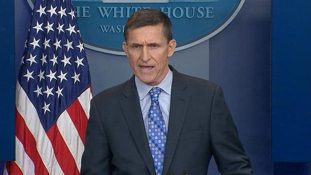 Embattled White House national security adviser Michael Flynn resigned Monday February 13, 2017 night, an abrupt end to a brief tenure. (Credit: CNN)
