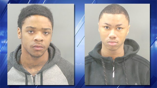 Armond Calvin (left) and Christopher Rhodes (right) are charged with resisting arrest after a north St. Louis police chase that left an officer injured. (Credit: KMOV).