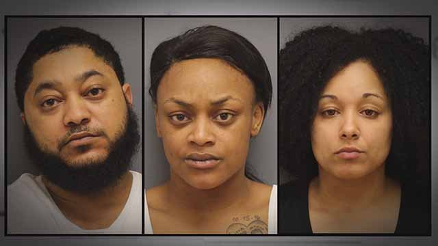 Michael De Silva, Shenita Howard, 23, and Trenaya Blackburn, 25, are allegedly involved in a bootleg cigarette ring. Credit: Franklin County Sheriff