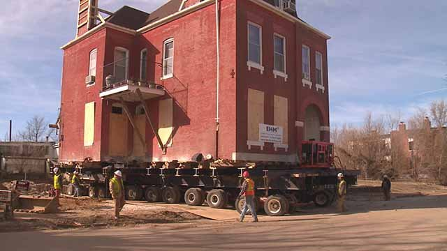 Charlesetta Taylor's century old home is being moved, instead of demolished to make room for the NGA's new campus in north St. Louis. Credit: KMOV
