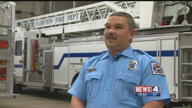 Firefighter Matthew Hunter. Credit: KMOV