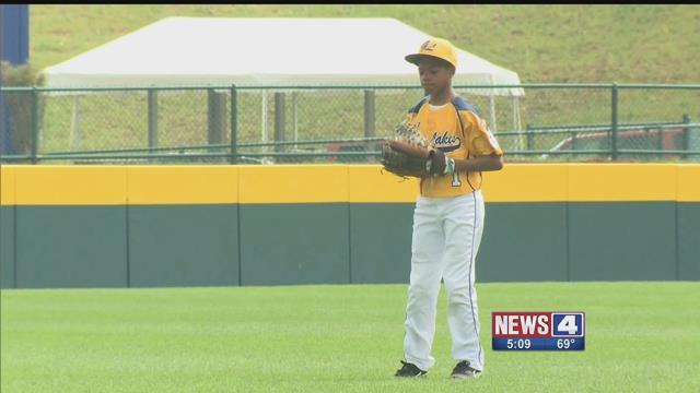A little league pitcher. Credit: KMOV