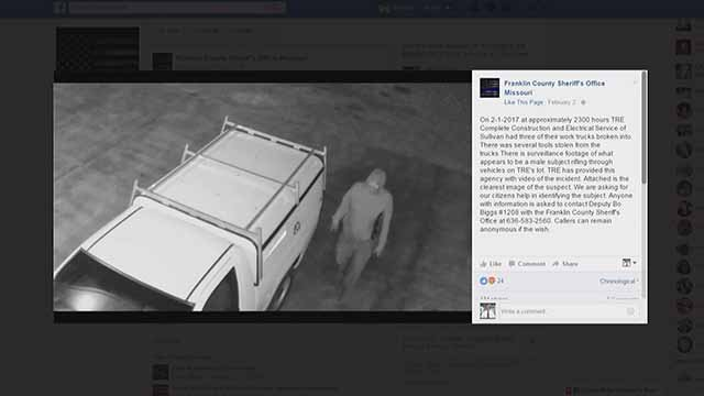 The Franklin County Sheriff is using Facebook more in an effort to catch criminals. Credit: Franklin Co Sheriff's Facebook Page
