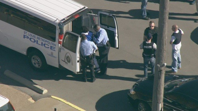 A man is in custody following a high-speed pursuit that ended in downtown St. Louis. (Credit:KMOV)