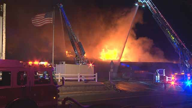 A fire broke at out Bogey Hills Country Club overnight on February 16 into February 17. Credit: KMOV