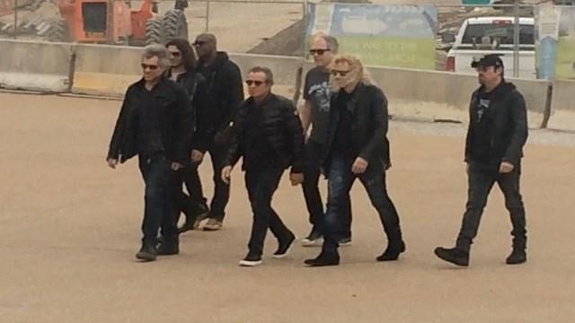 Bon Jovi seen on the Arch grounds Monday (KMOV)