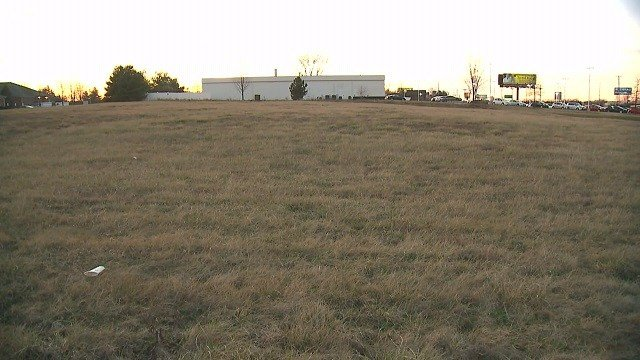 The plot of land where the potential hotel would be built. (Credit: KMOV)
