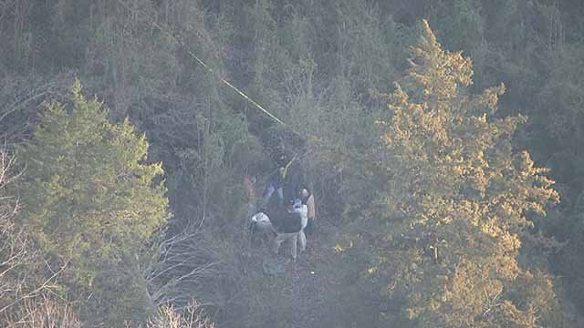 Human remains were found in a wooded area of Washington, Mo. on February 24. Credit: KMOV