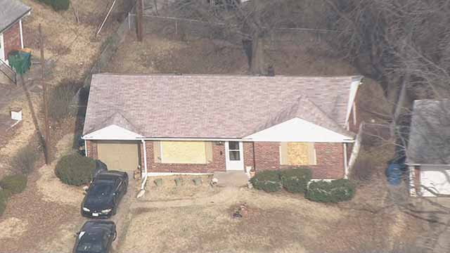 At least 50 shots were fired into this house in Bellefontaine Neighbors Thursday night. Credit: KMOV