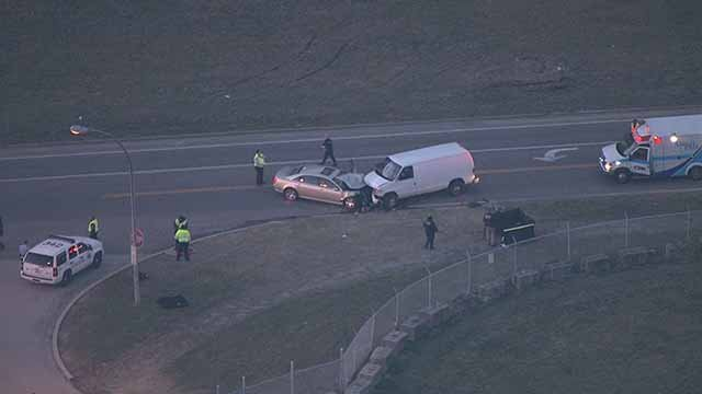 One person died in a head-on crash in north St. Louis Friday evening. Credit: KMOV