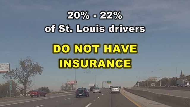 Almost a fourth of drivers in St. Louis have no auto insurance. Credit: KMOV