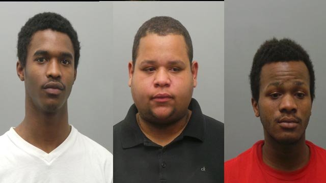 Nazhje Williams, Johnathan Carter & Rayon Lovelace are accused of armed robbery (Credit: Chesterfield police)