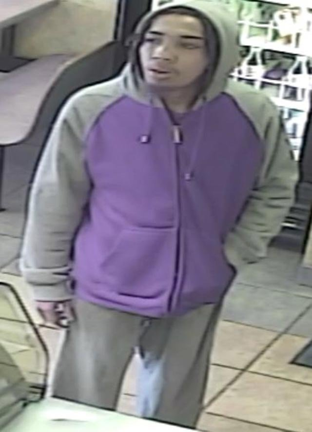 Suspect accused of robbing Subway on South Broadway on Feb. 24 (Credit: Police)