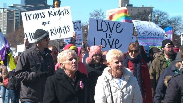 Hundreds of people came out for the LGBT March in Downtown St. Louis Saturday afternoon. (KMOV)