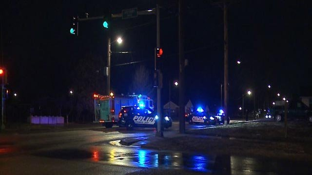Emergency vehicles near Century Drive & Rock Road in Granite City (Credit: KMOV)