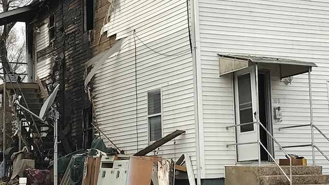 Firefighters believe a pet rabbit may have knocked over candle causing this house in De Soto to catch on fire. Credit: KMOV