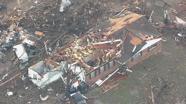 Tornado caused major damage in Perryville, MO. (Credit:KMOV)